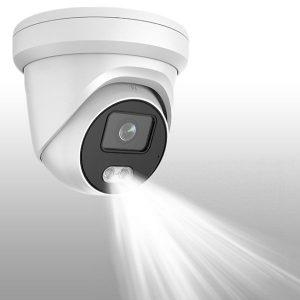 Hikvision Camera with Built-In Speaker & Flashing Light