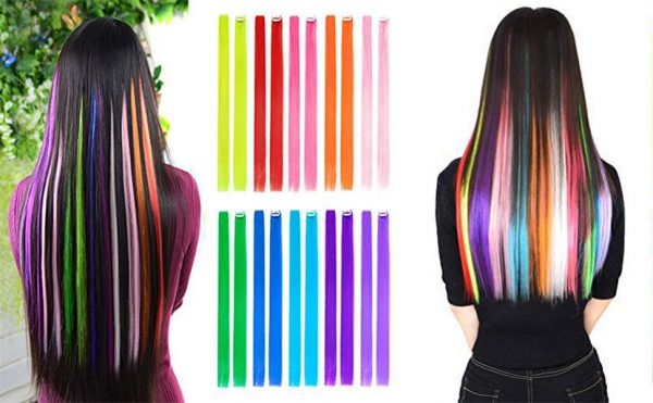 Can you put Clip in Hair Streaks in Colored Hair?